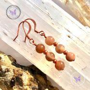 Sunstone Copper Earrings